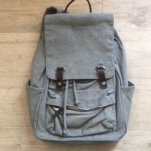 Everlane Chambray Denim Twill snap backpack